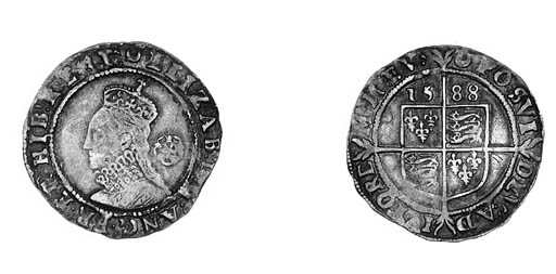 Elizabeth I, Sixpence, fifth i