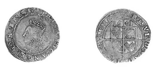 Elizabeth I, Sixpence, sixth i
