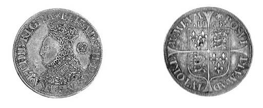 Elizabeth I, Sixpence, milled