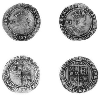James I, Sixpences (2), 1609,