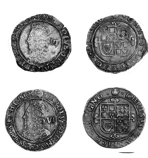 Charles I, Tower, Sixpences (2