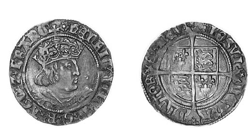 Henry VIII, second coinage, Gr