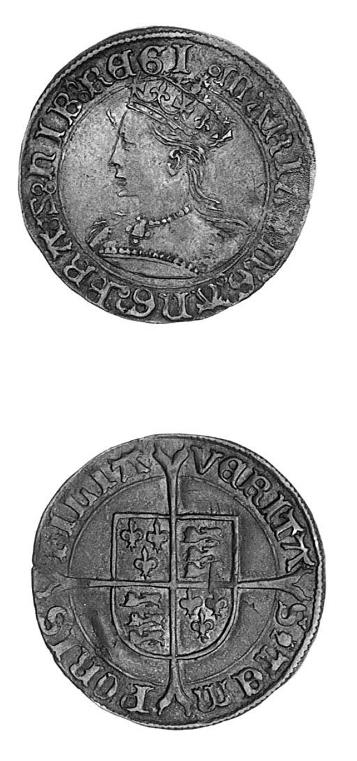 Mary (1553-54), Groat, m.m. po