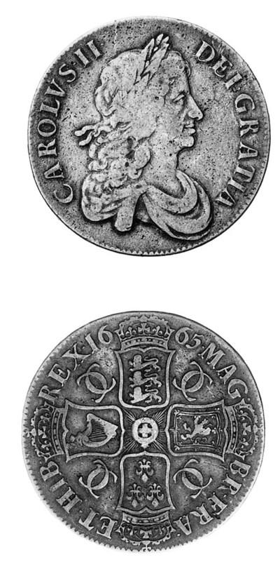 Charles II, Crown, 1665, simil