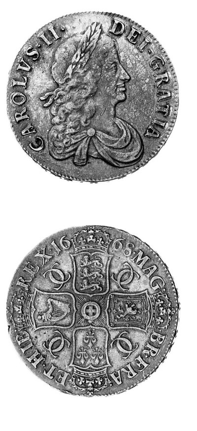 Charles II, Crown, 1668, simil