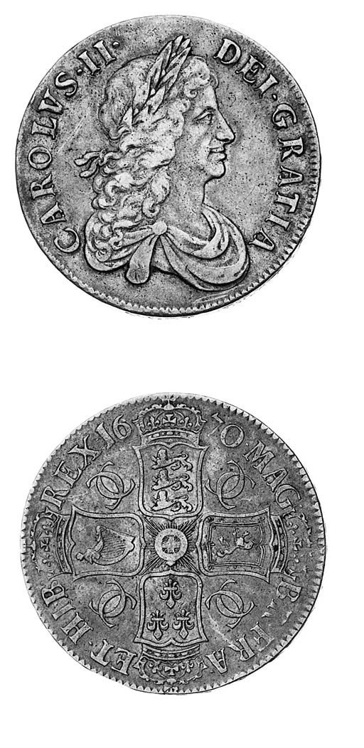 Charles II, Crown, 1670, simil