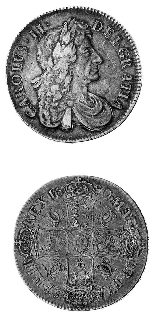 Charles II, Crown, 1680, fourt