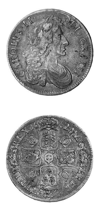 Charles II, Crown, 1682, 2 ove