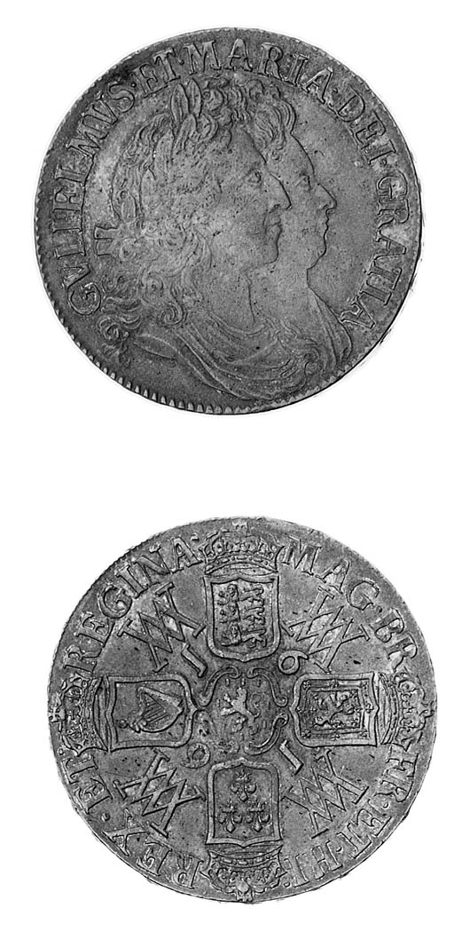William and Mary, Crown, 1691,