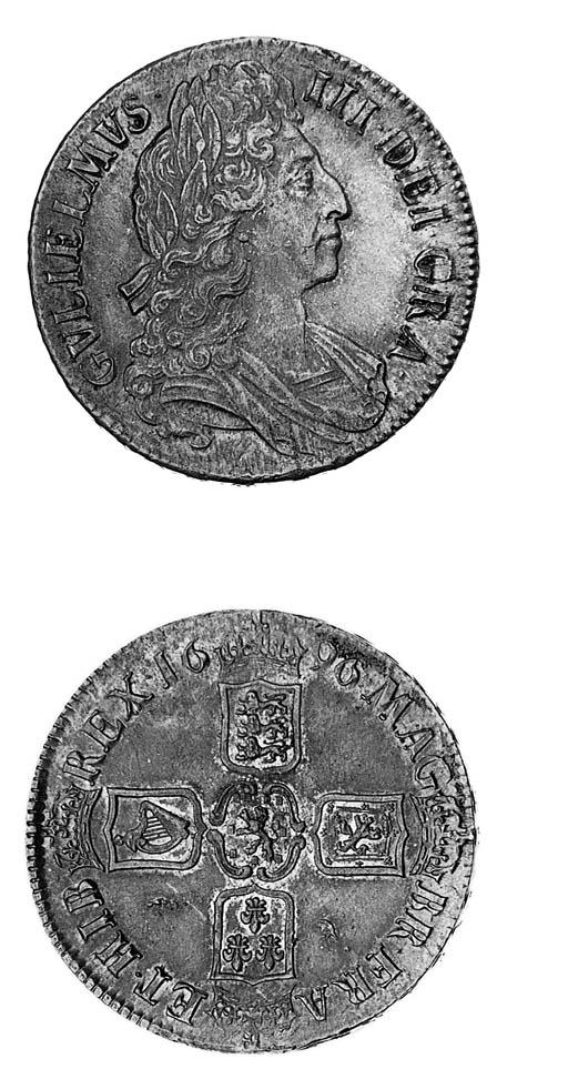 William III, Crown, 1696, thir