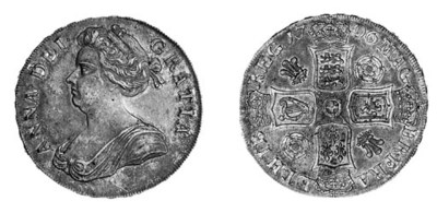 Anne, Crown, 1706, similar to