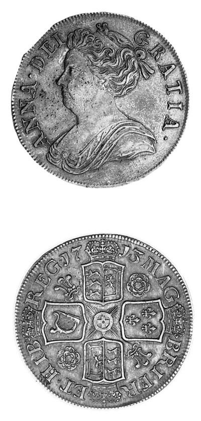 Anne, Crown, 1713, third drape
