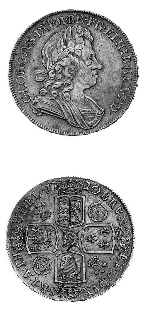 George I, Crown, 1720, 20 over