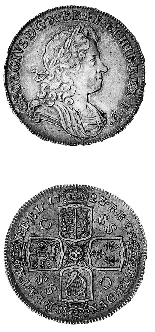 George I, Halfcrown, 1723 SSC,