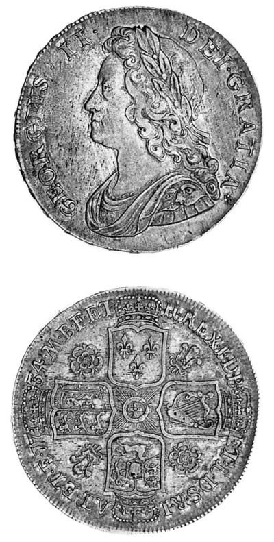 George II, Halfcrown, 1734, si