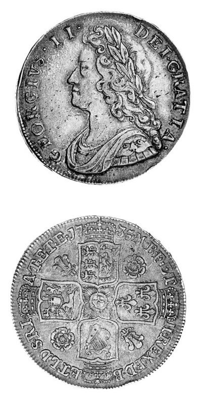 George II, Halfcrown, 1735, si