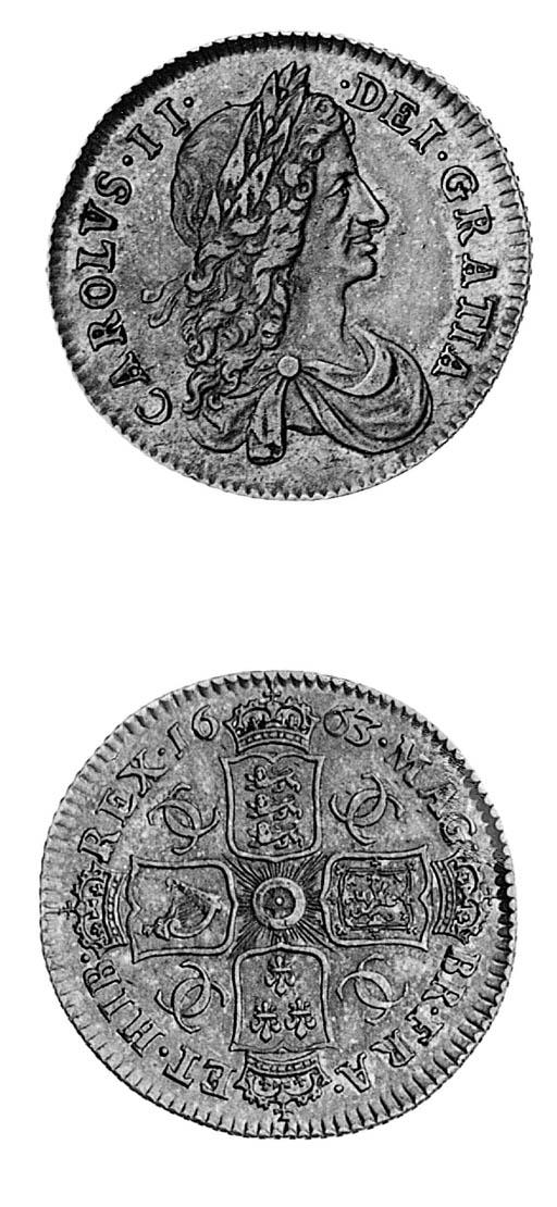 Charles II, Shilling, 1663, fi