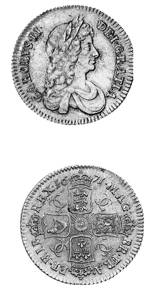 Charles II, Shilling, 1671, si