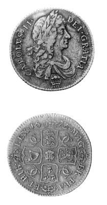 Charles II, Shilling, 1673, wi