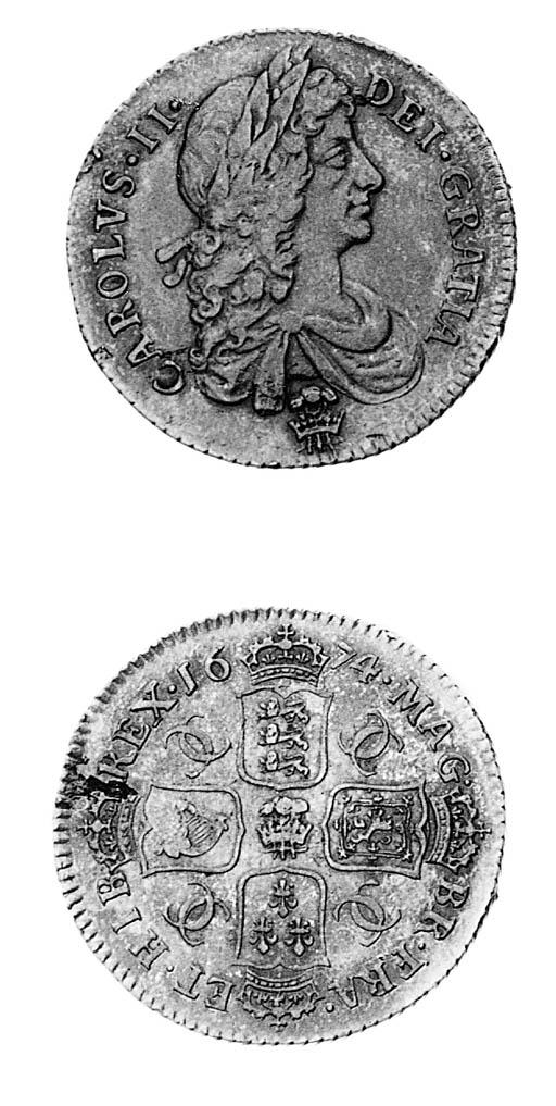 Charles II, Shilling, 1674, si