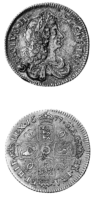 Charles II, Shilling, 1677, si