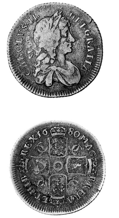 Charles II, Shilling, 1680, si