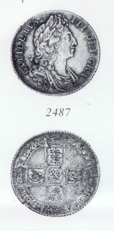 William III, Shilling, 1696N,