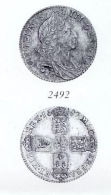 William III, Shilling, 1697C,