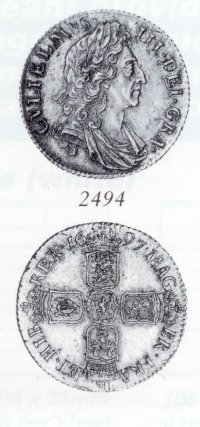 William III, Shilling, 1697, t
