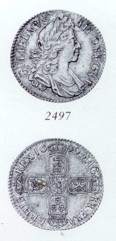 William III, Shilling, 1699, f