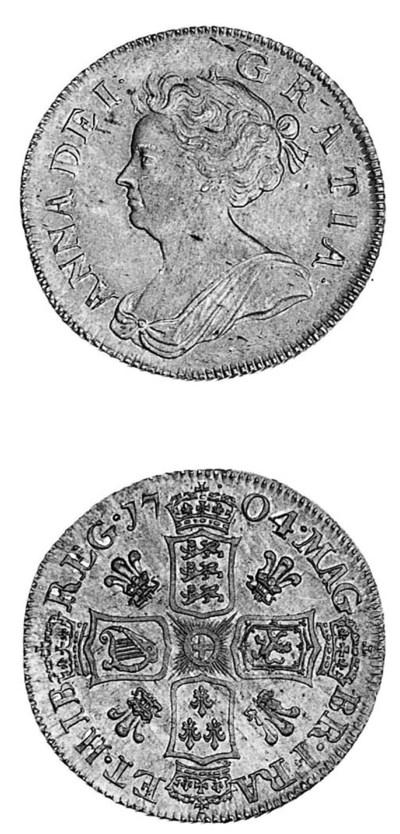 Anne, Shilling, 1704, similar