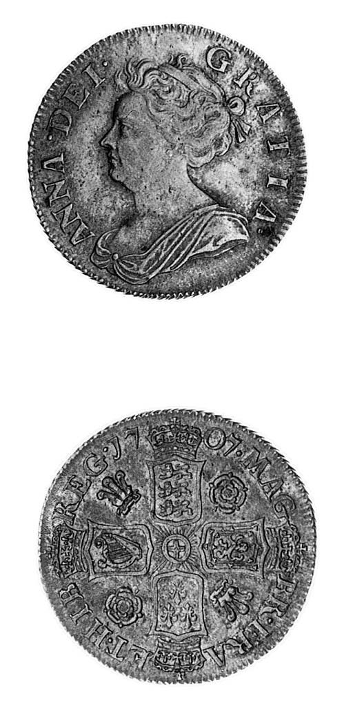 Anne, Shilling, 1707, similar