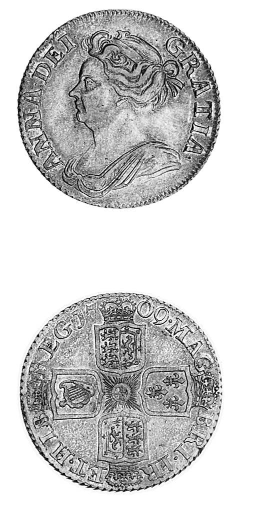 Anne, Shilling, 1709, similar
