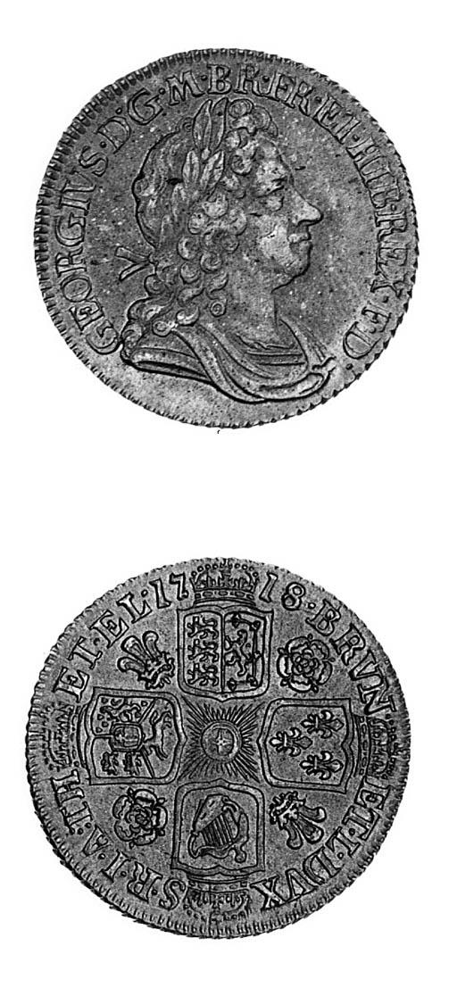George I, Shilling, 1718, simi