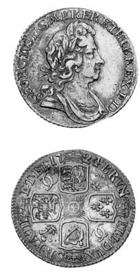 George I, Shilling, 1725, simi
