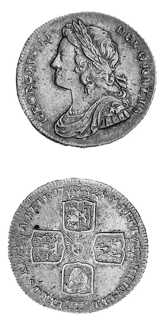 George II, Shilling, 1728, sim