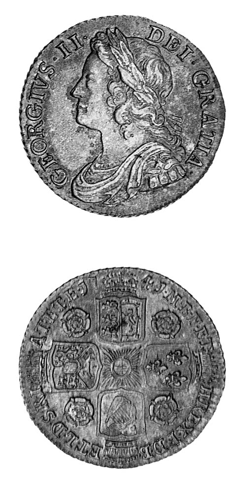 George II, Shilling, 1741, sim