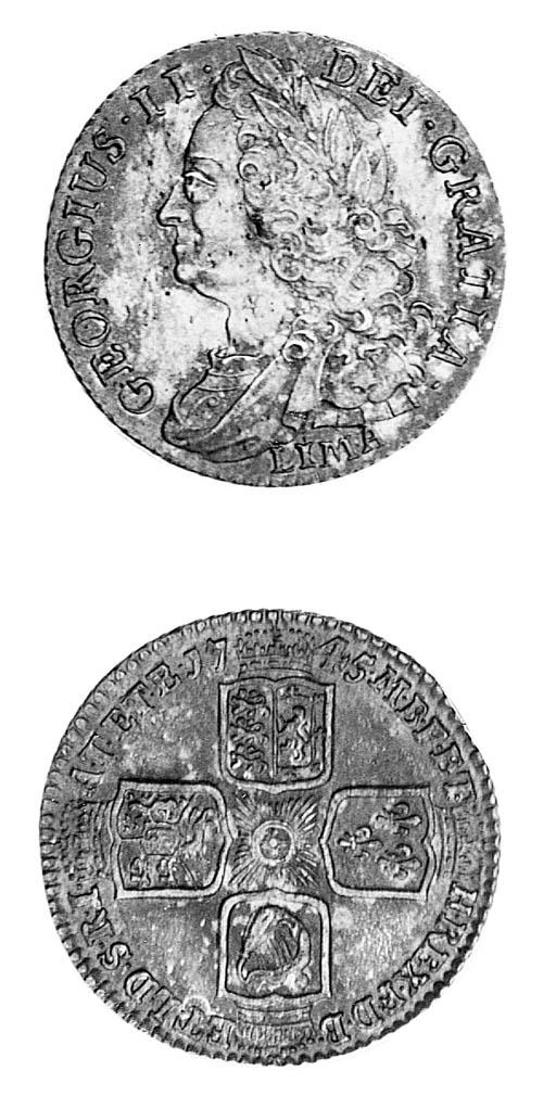 George II, Shilling, 1745 LIMA
