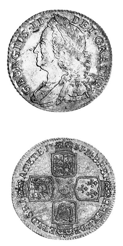 George II, Shilling, 1751, sim