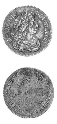 Charles II, Sixpence, 1678, 8