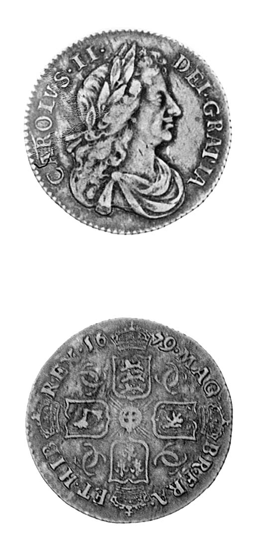 Charles II, Sixpence, 1679, si