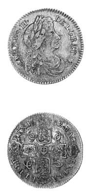 Charles II, Sixpence, 1682, 2