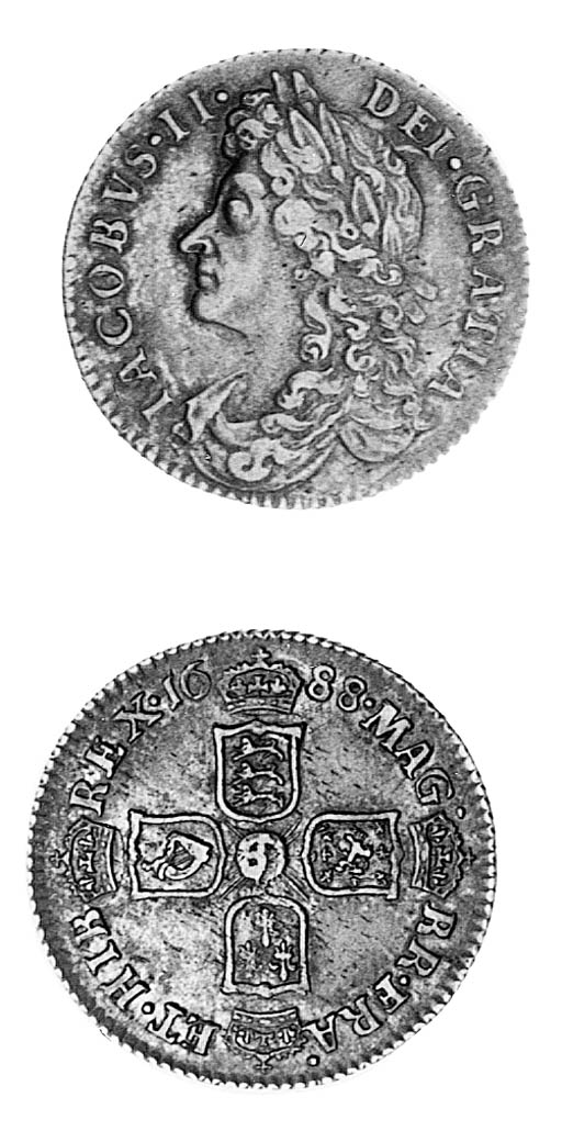 James II, Sixpence, 1688, simi
