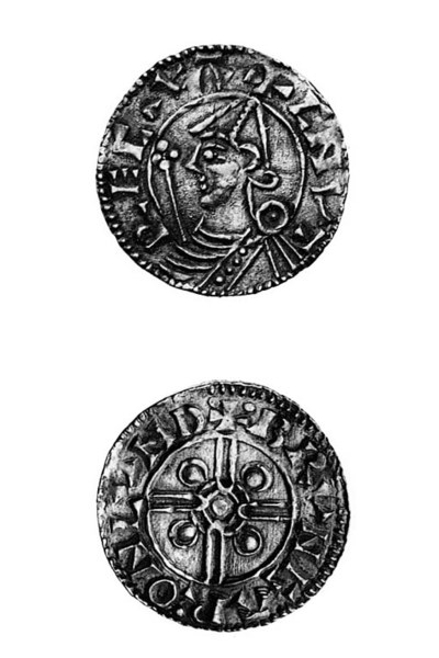 Cnut, helmet type Pennies (8),