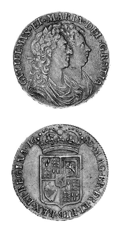 William & Mary, Halfcrown, 168