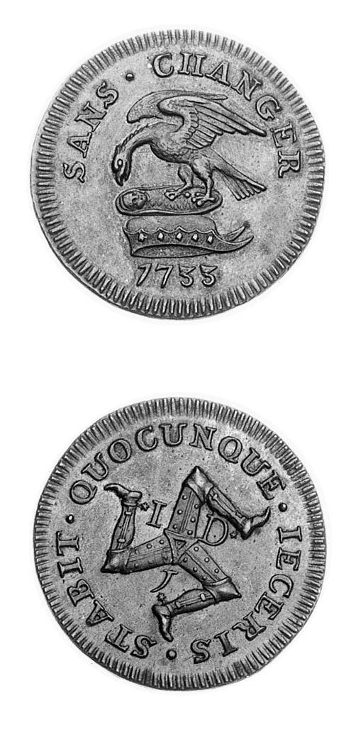 Penny, 1733, similar to last (