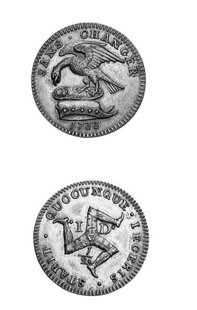 Proof halfpenny, 1733, struck