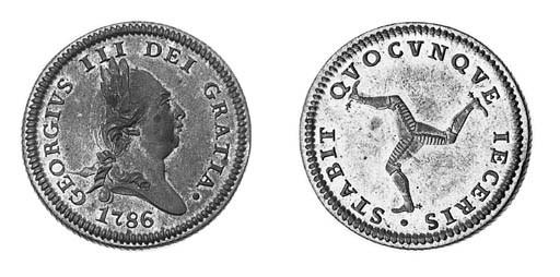 Penny, 1786 (2), laureate bust