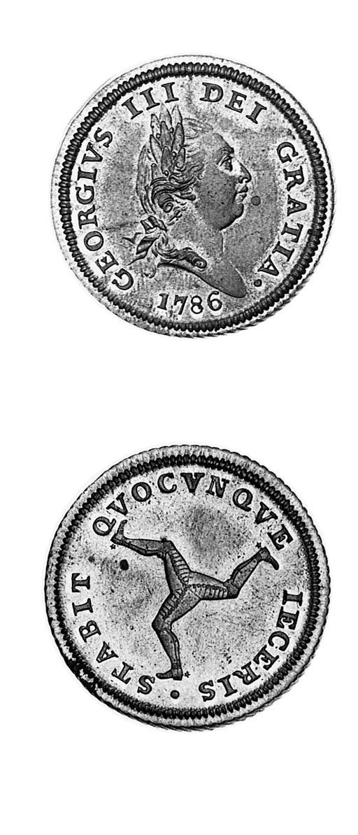 Halfpenny, 1786 (2), similar (
