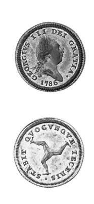 Halfpenny, 1786, similar to la